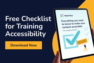 Free checklist for training accessibility - Download now