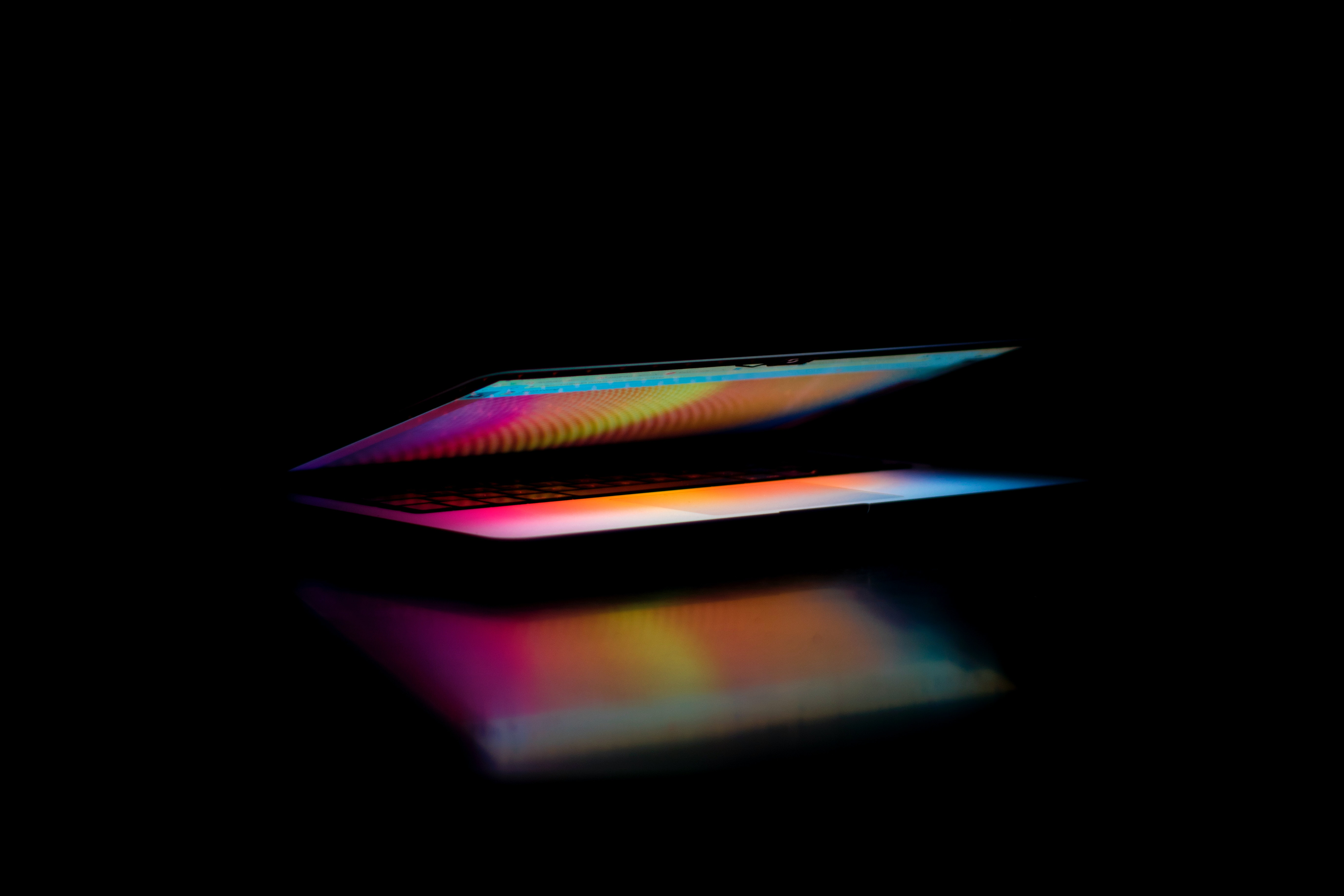 Image - A laptop with a glowing light.