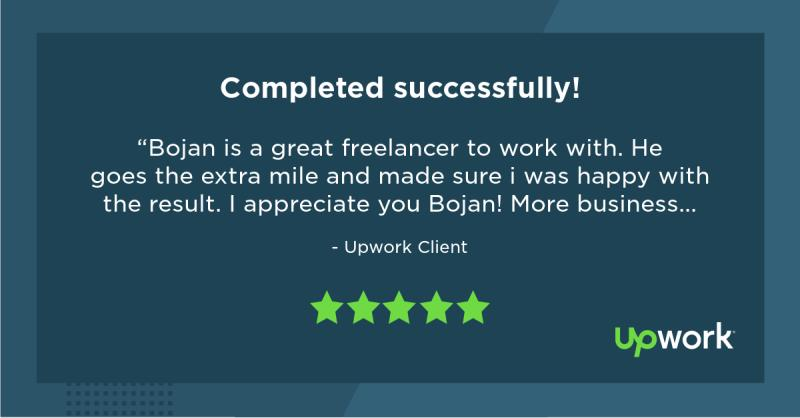 Upwork 5 Star Review 3