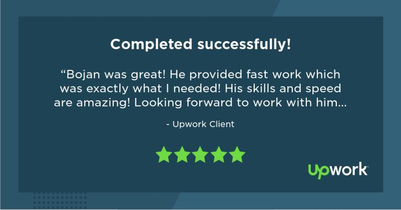 Upwork 5 Star Review 1