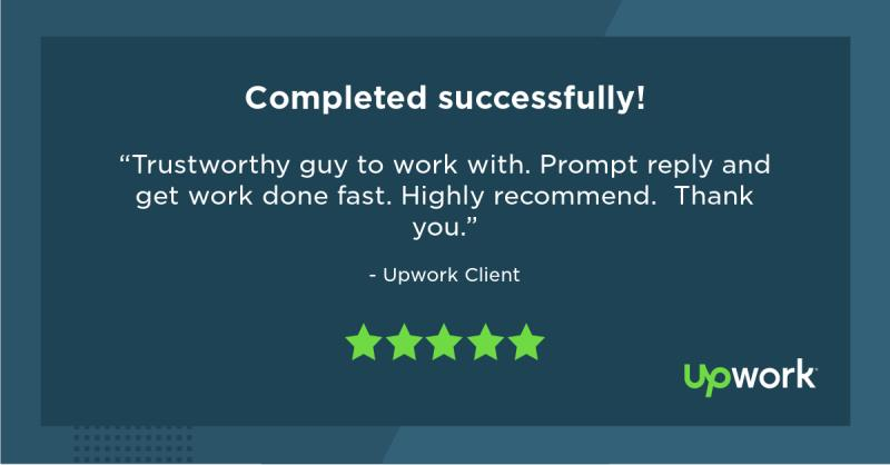 Upwork 5 Star Review 4