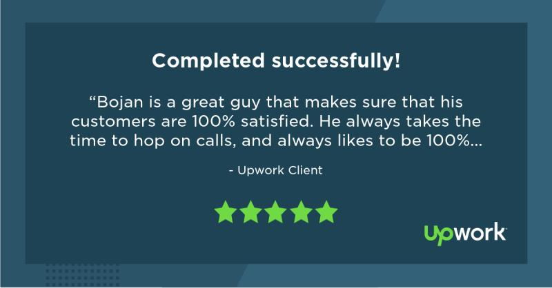 Upwork 5 Star Review 10