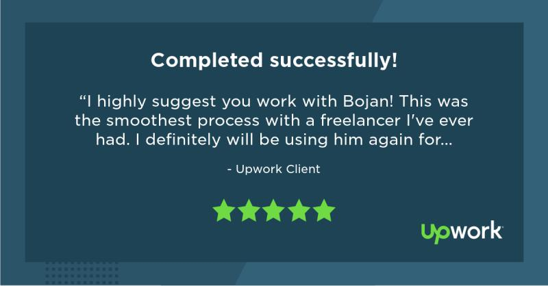Upwork 5 Star Review 12