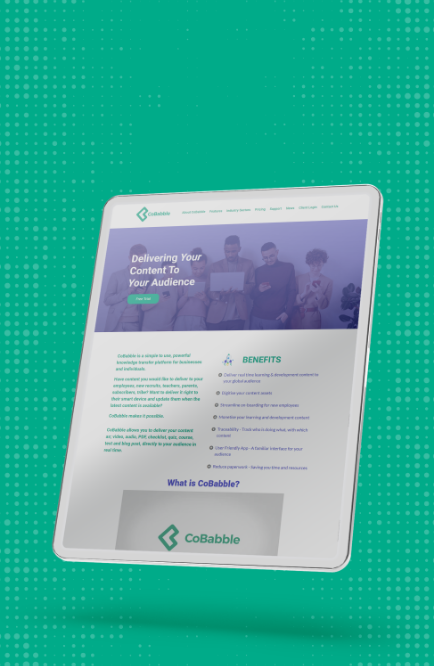 CoBabble Website Design