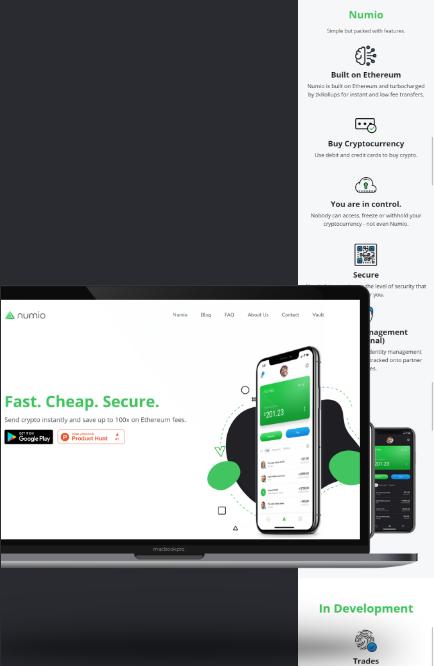 Numio Website Design