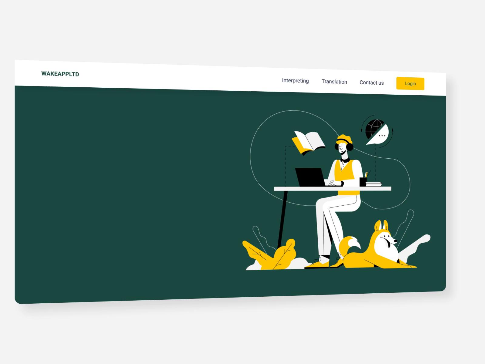 intrepreting / translation custom website design