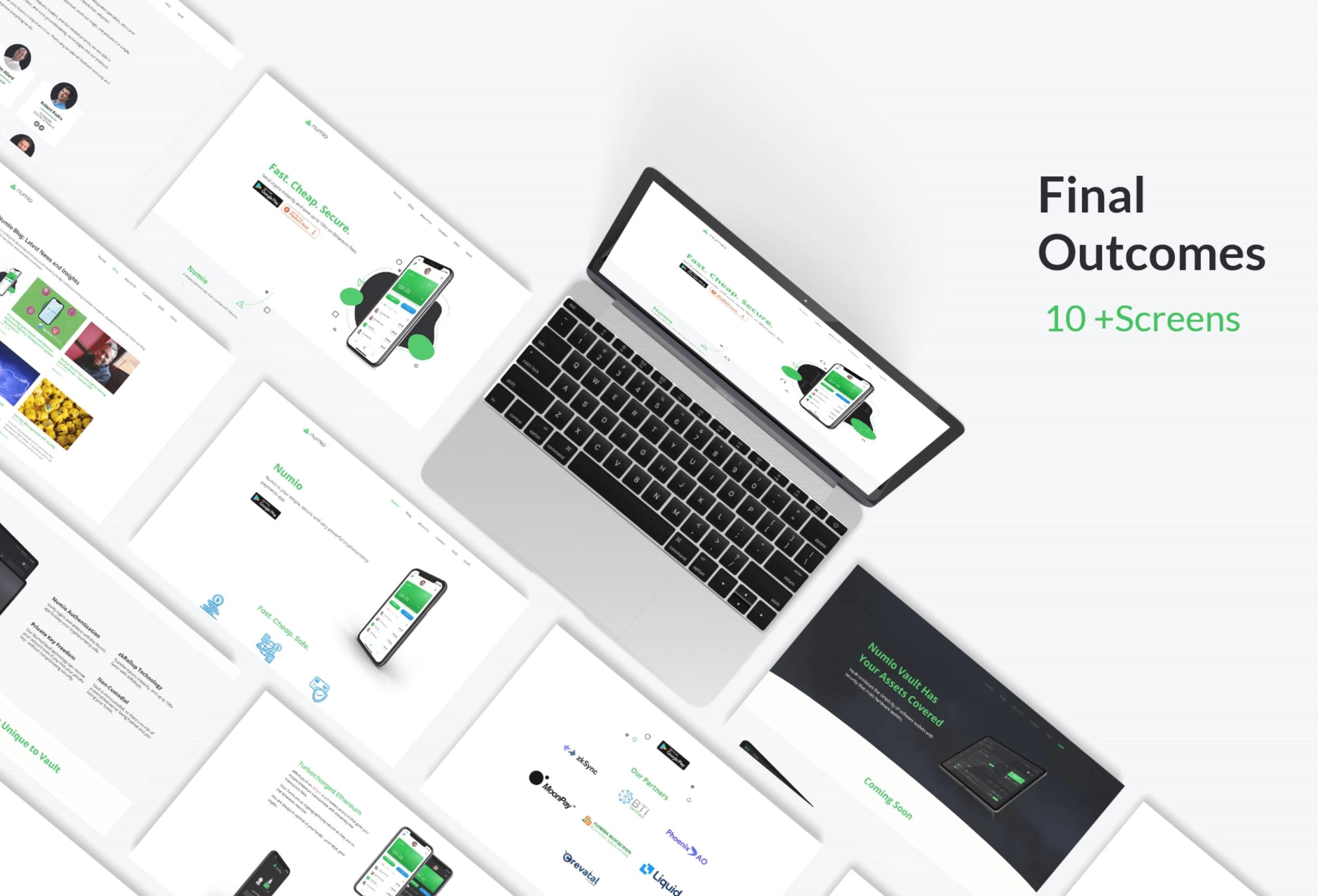Website Visual Design Showcase