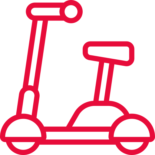 Red scooter icon