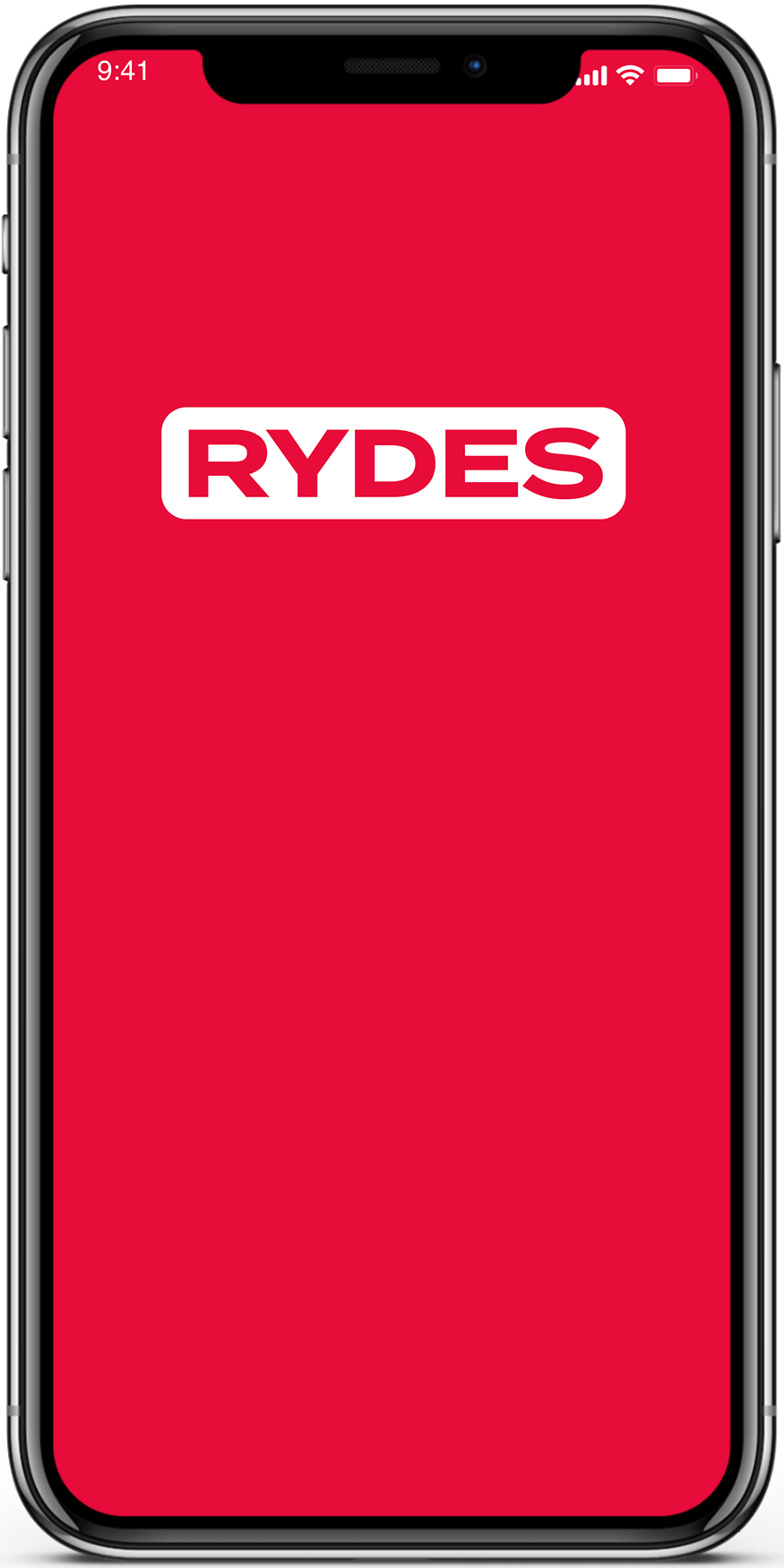 RYDES Mobility Budget Mobile home screen
