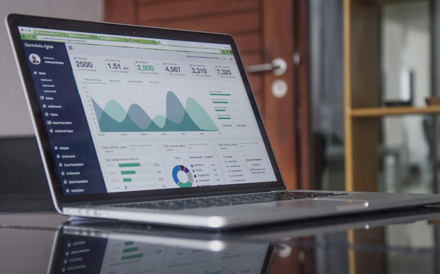 Data Analytics screen