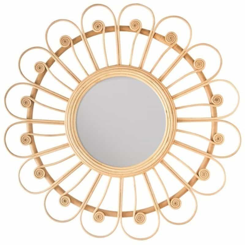 Miroir en Rotin Bardot