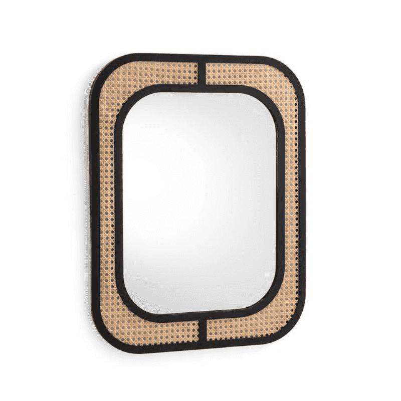Miroir Rectangle en Rotin