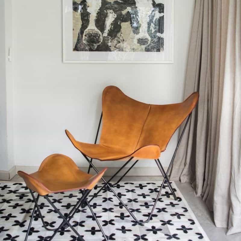 Chaise en Cuir - Butterfly Chair