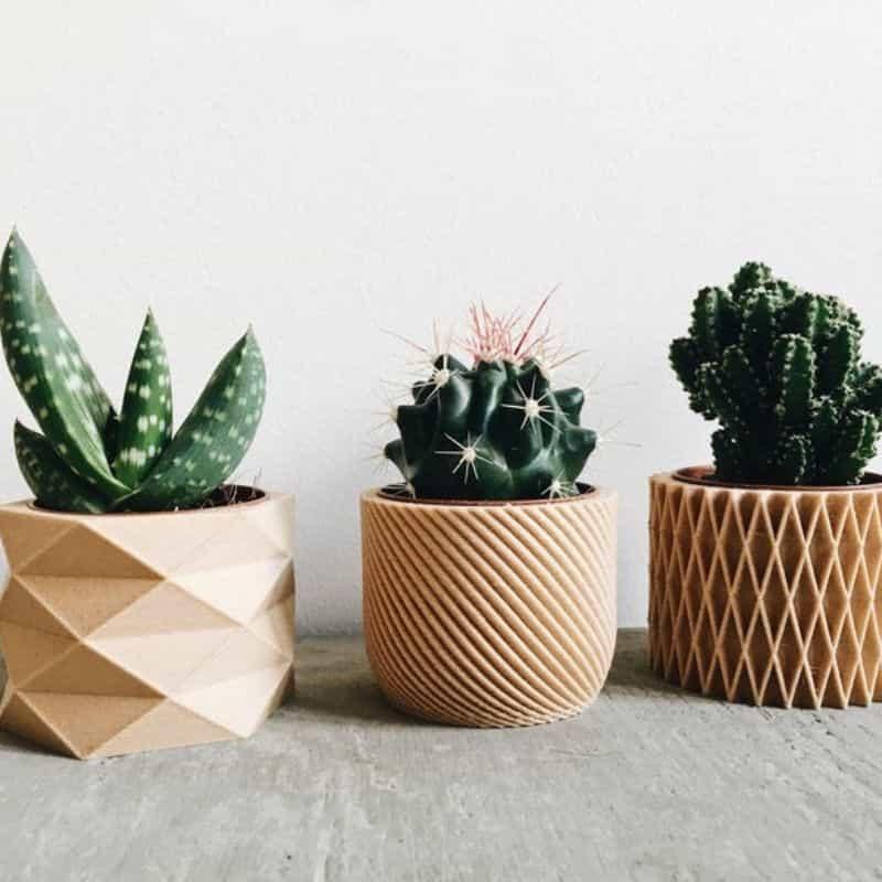 Mini Caches Pots Géométriques