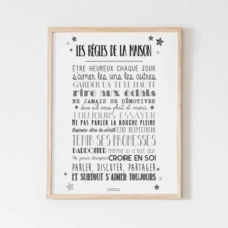 Affiche Règles de la Maison