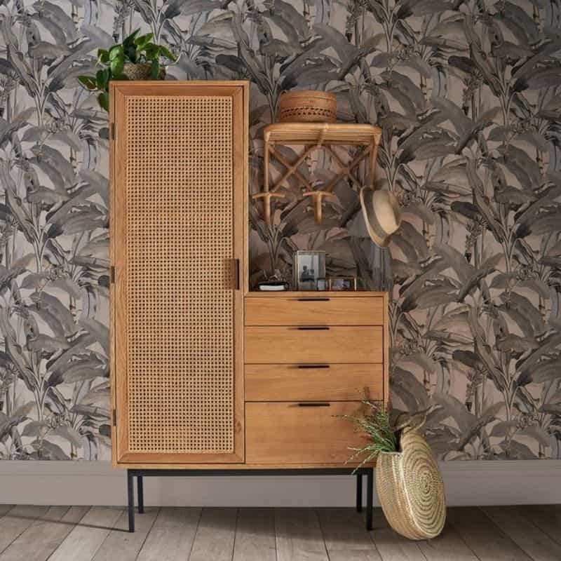 Armoire Dressing en Cannage