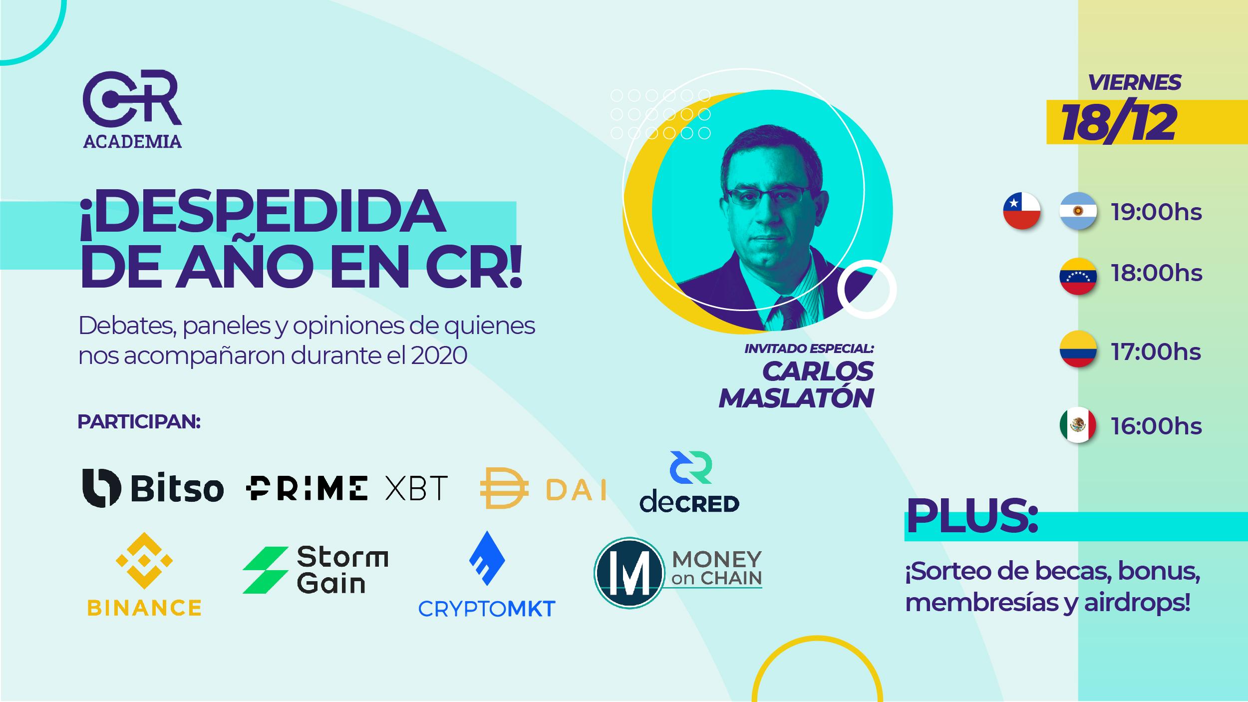 Cierre de año en CR! DeFi, Exchanges y más. Invitado especial: Carlos Maslatón