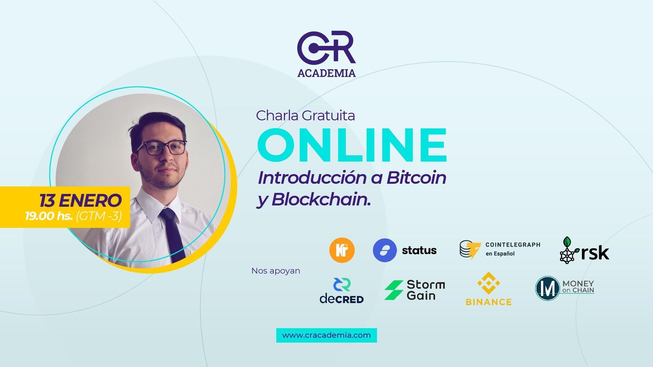 Charla Online: Introdución a Bitcoin y Blockchain.