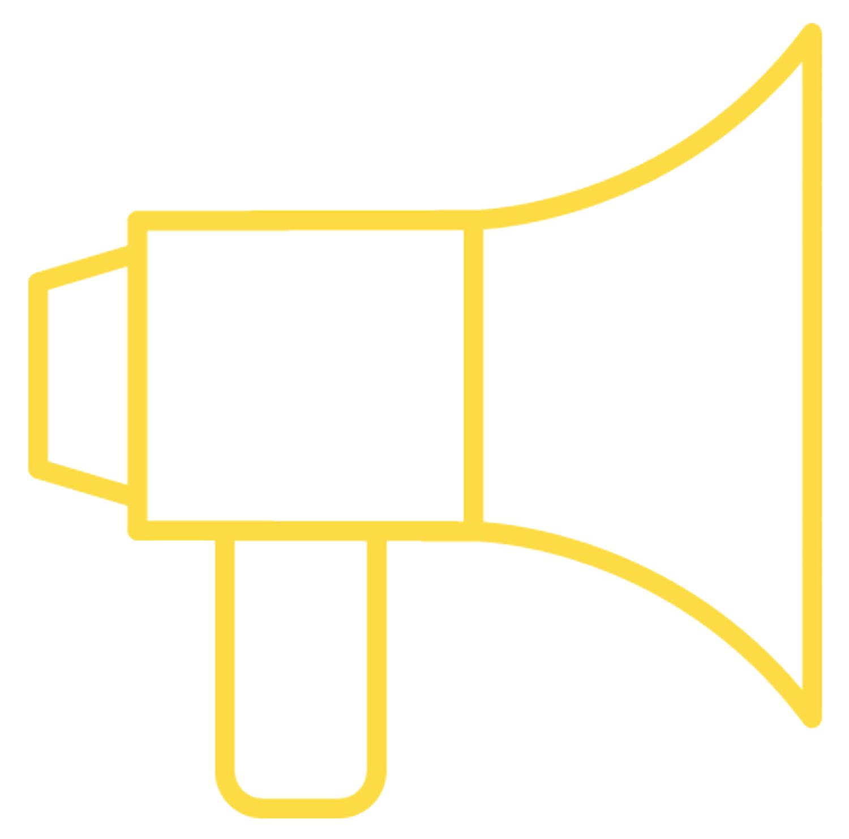 a decorative pic of a megaphone