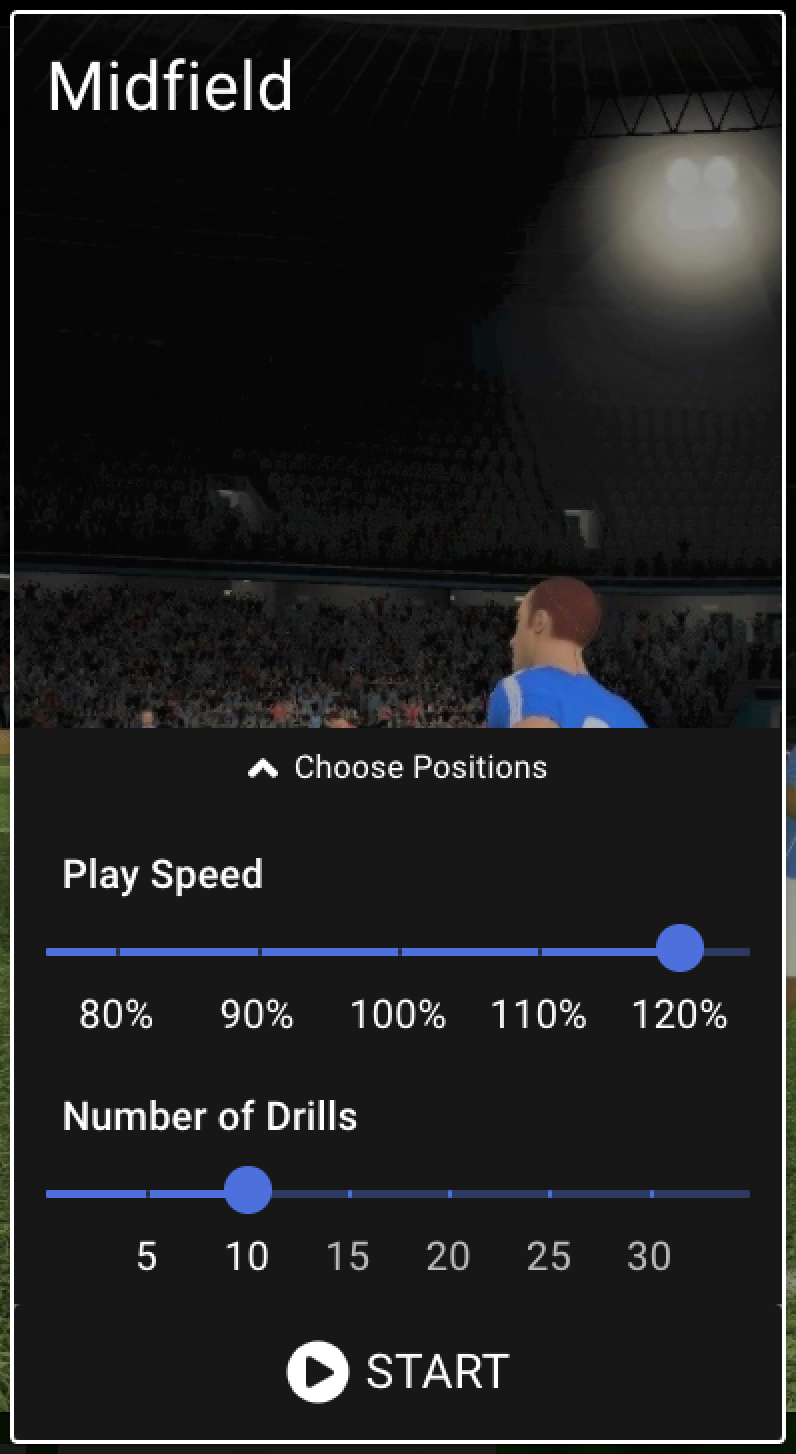 Speed settings in the Be Your Best VR-trainer.