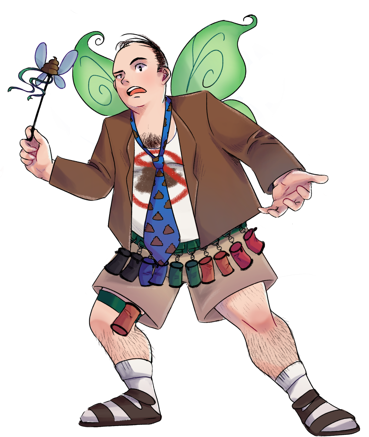 Professor Poop Fairy ready to give a lesson.