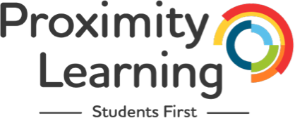 Proximity Learning, students first. Company Logo