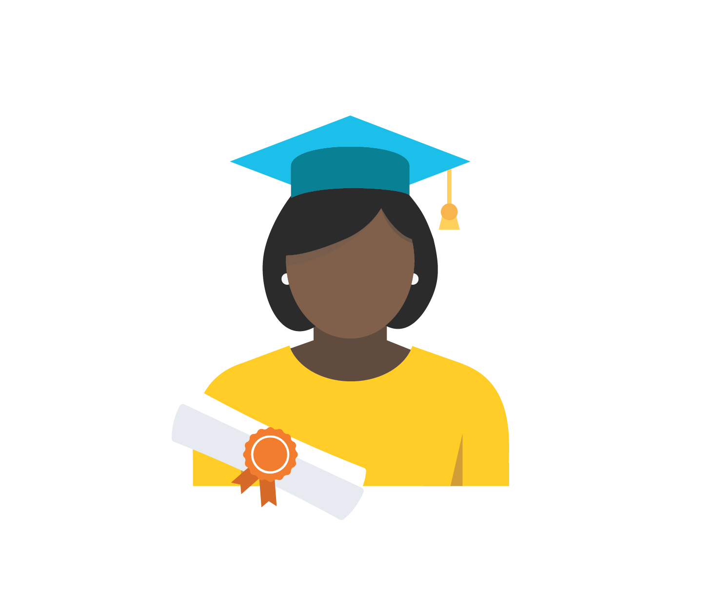 Icon of a graduate with a cap and diploma