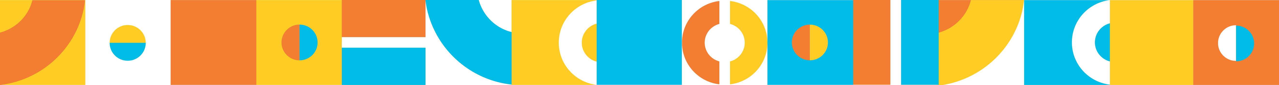 Yellow, orange and blue banner made of Proximity Learning logo