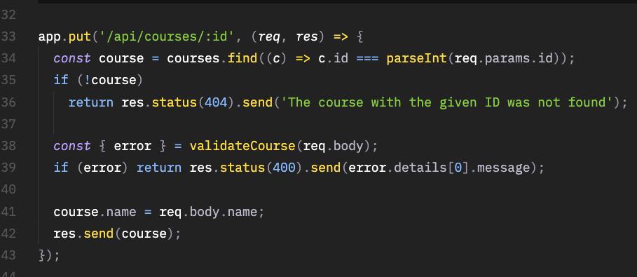 API REST com Node -  Método Put
