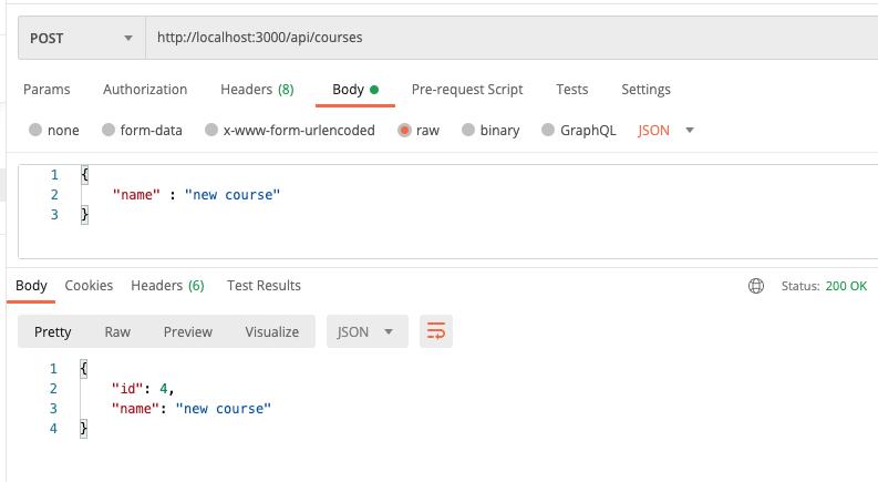 API REST com Node - Post id sequencial