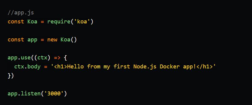 First Node Js Docker App