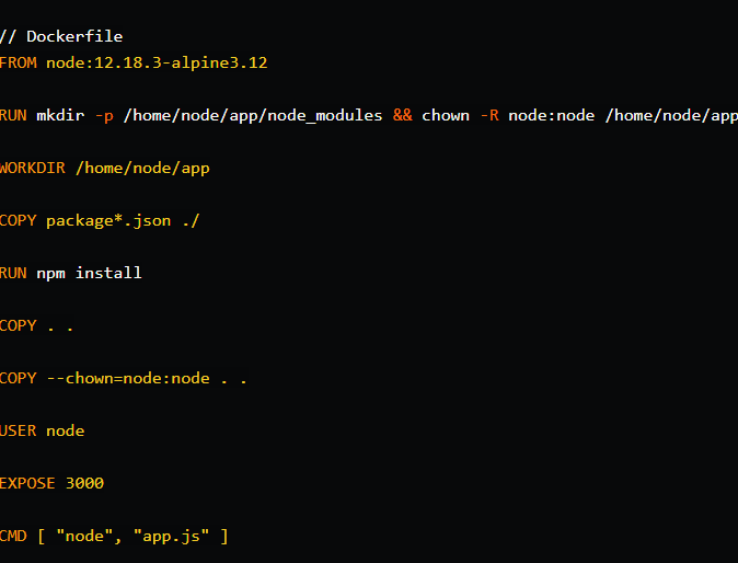 Dockfile - Node Js Docker