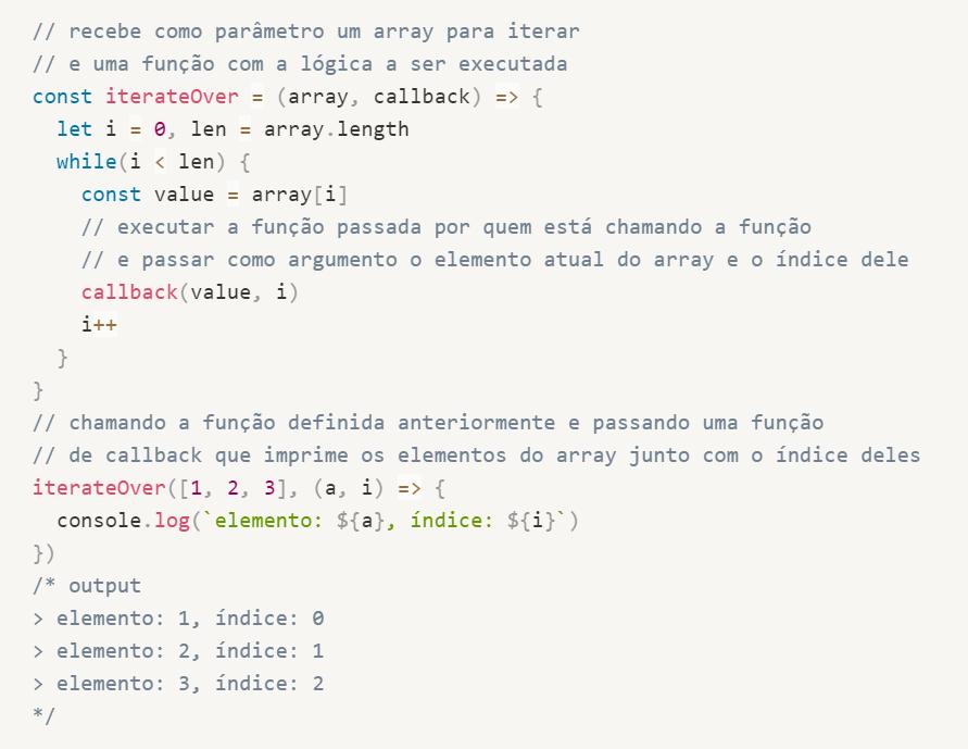 HOFs na biblioteca padrão do Javascript
