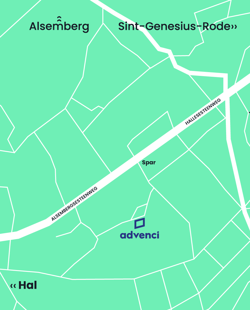 Advenci Map Contact Beersel