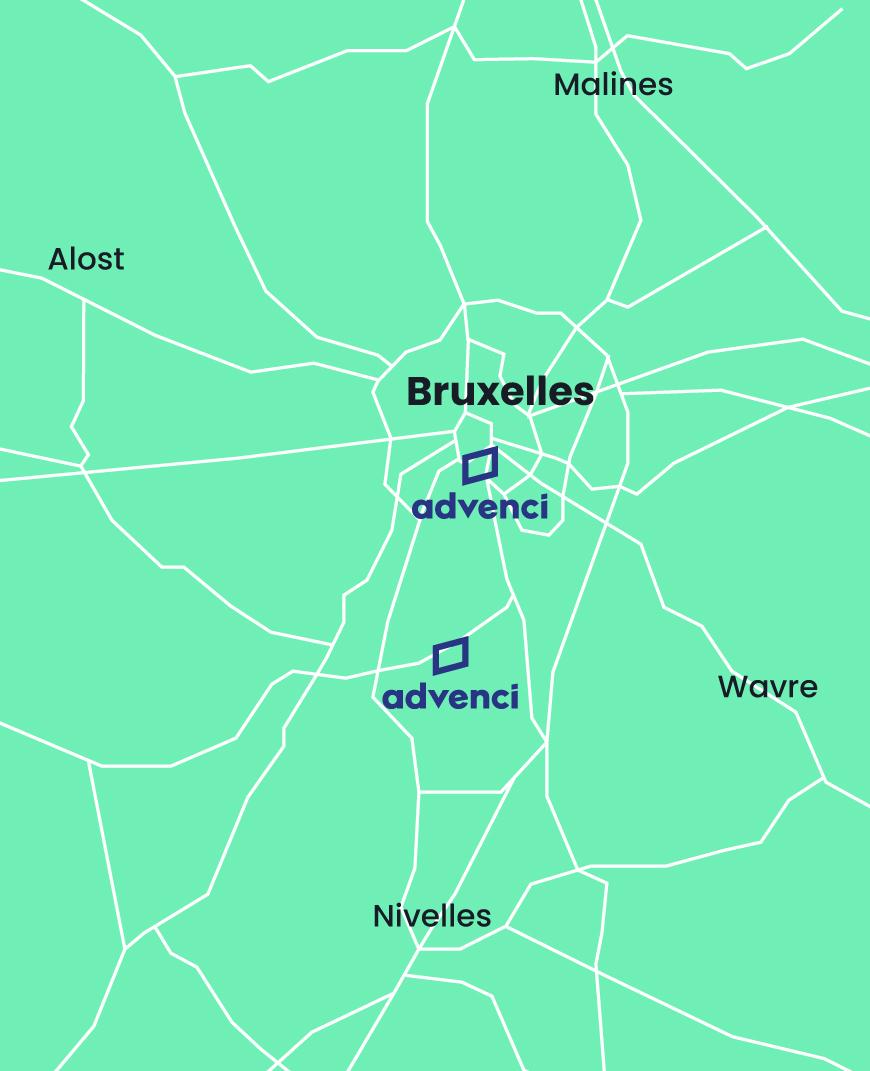 Advenci Map Contact Belgium