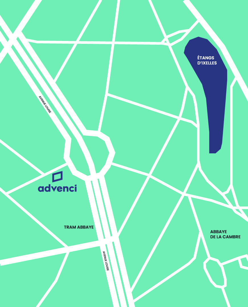 Advenci Map Contact Brussels