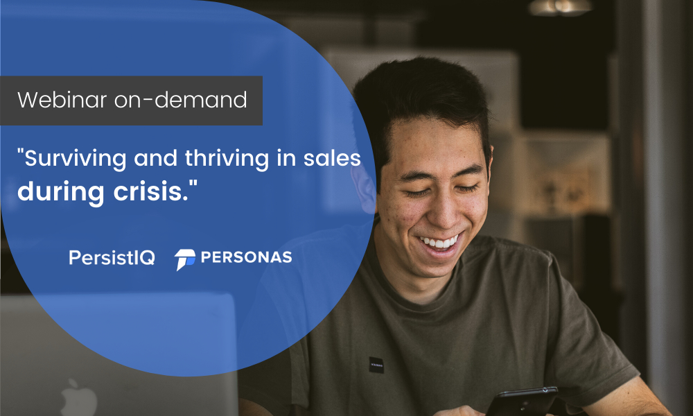 Webinar on -demand: How to survive and thrive in sales during crisis.