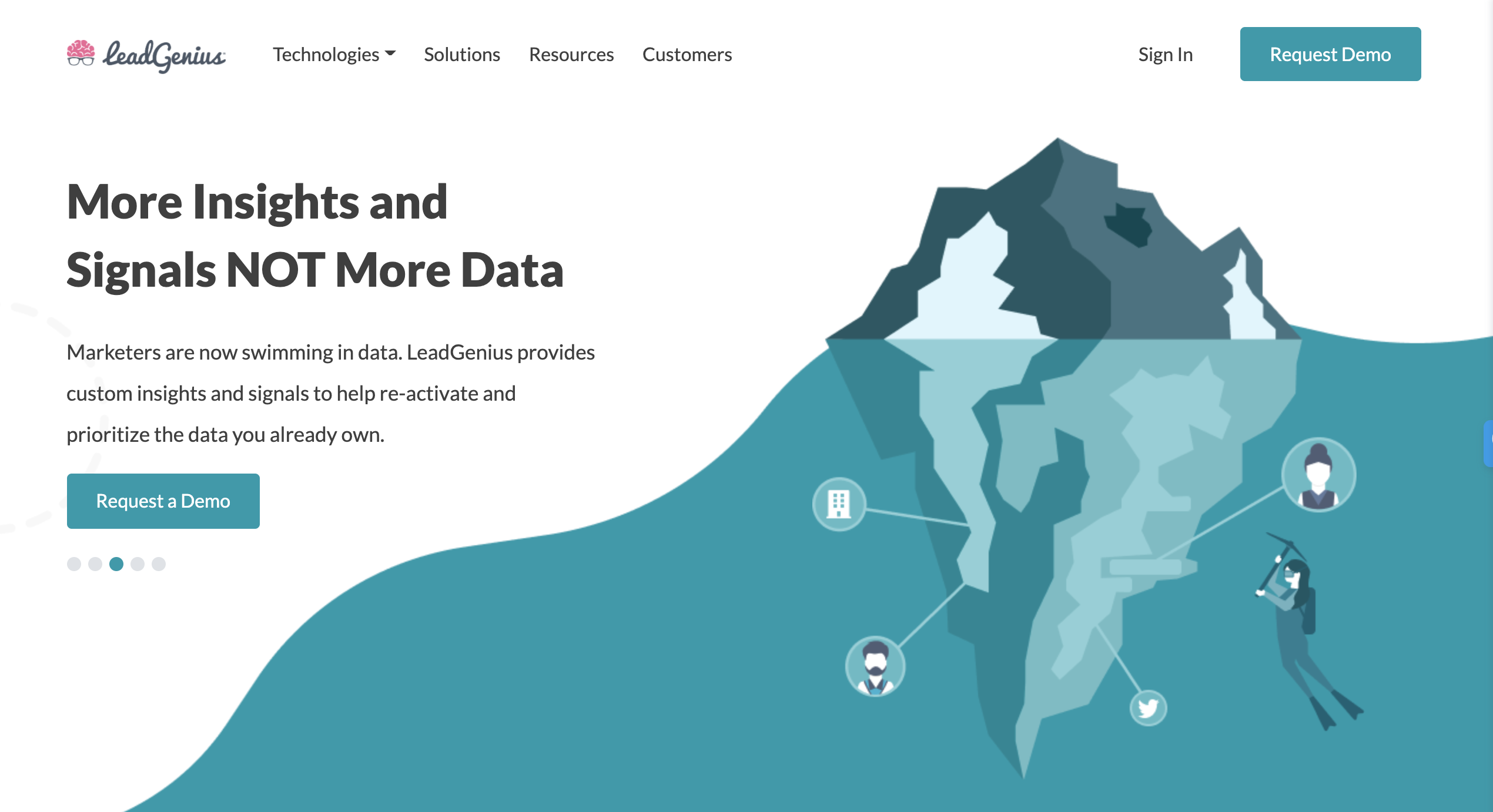 lead genius data tools