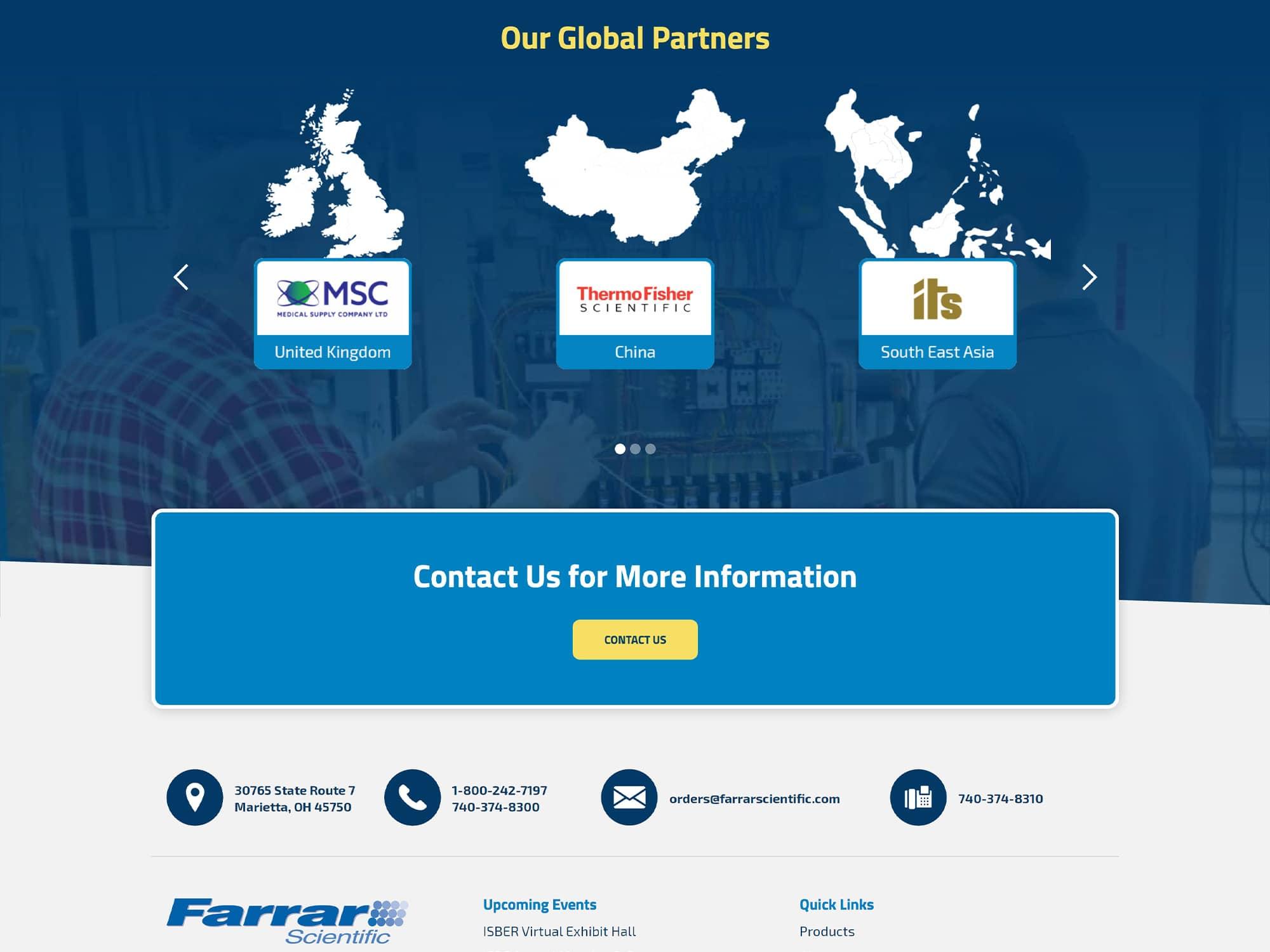 Farrar Scientific New Website Footer
