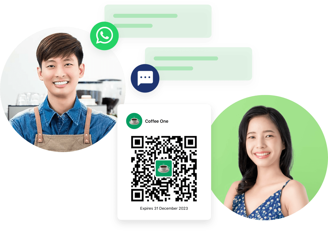 Be Where Customers Are – Whatsapp Target your customers on their favourite channel, WhatsApp.  Be available to customers 24*7 with conversational commerce.