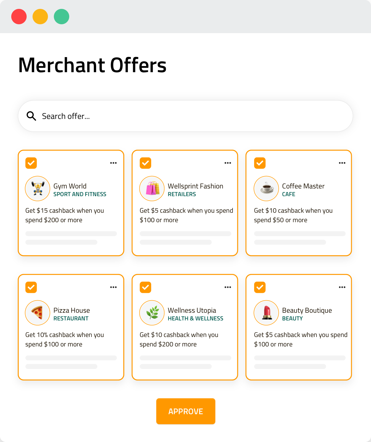 Moderate Offers Review and approve offers individually or in bulk before the offers get listed on the platform.