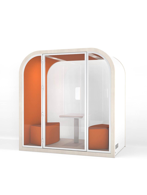 Salles de réunion acoustique - Orange