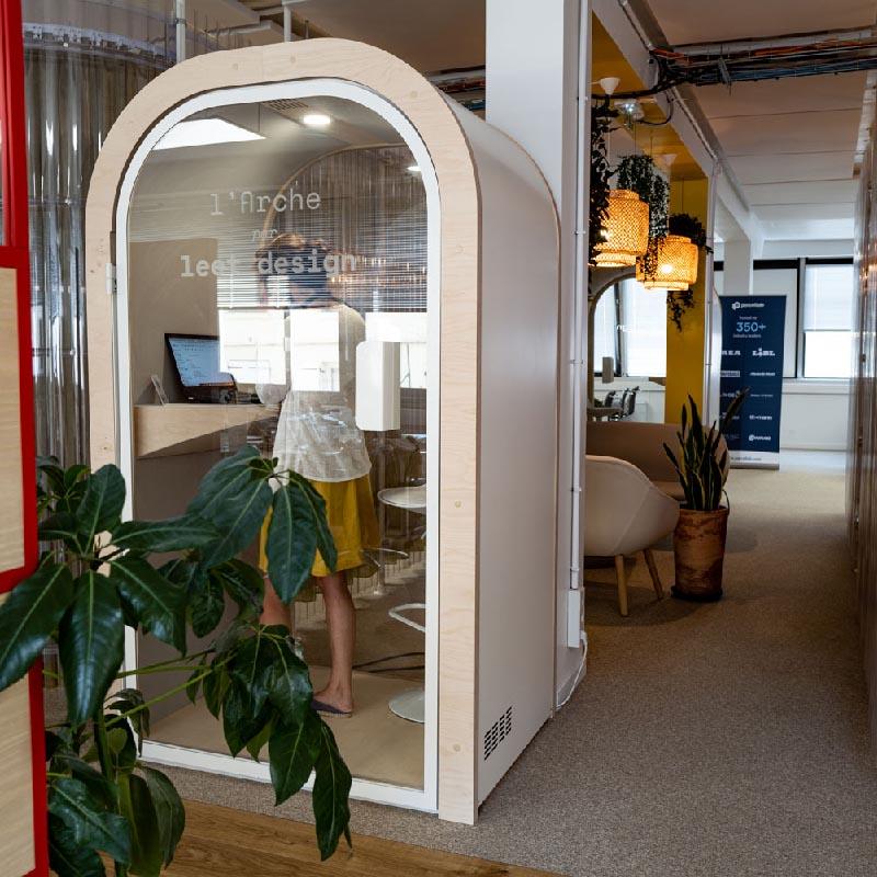 2 Arches L dans les locaux parisiens de Lafayette Plug & Play