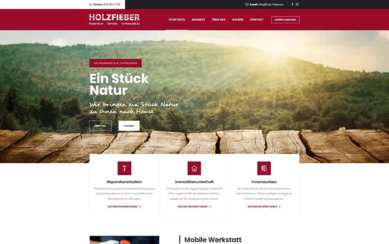 Webseite Referenz Schreiner