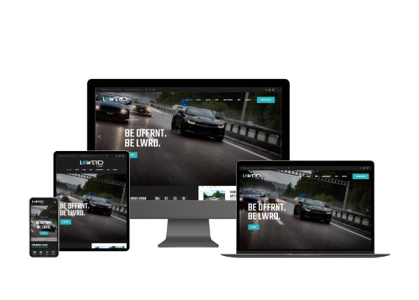Webseite Automobilbranche