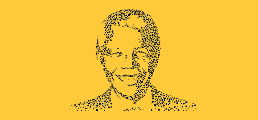 Figure 7: Leveraging the circle and triangle to form the iconic Nelson Mandela face.