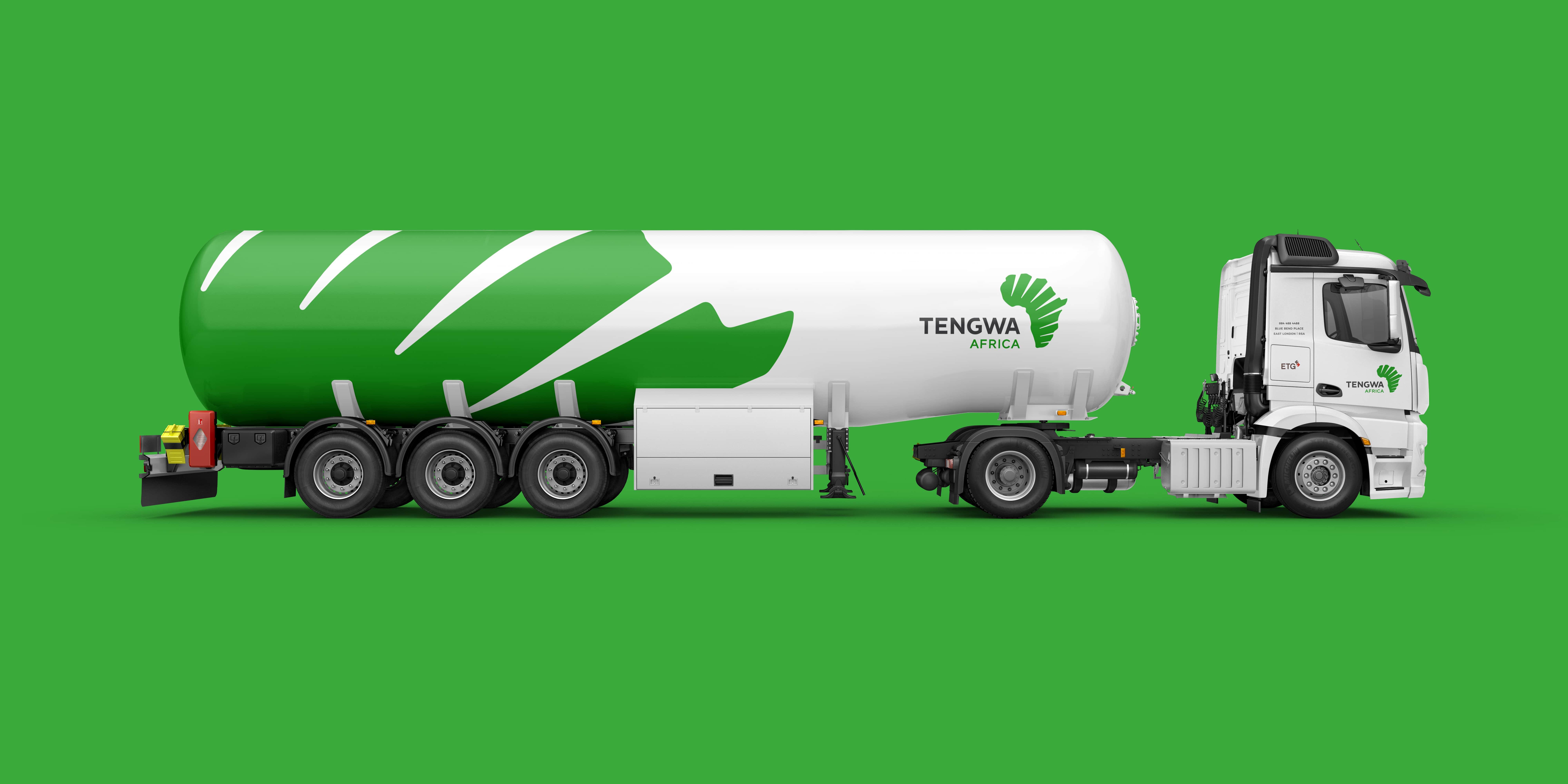 Vehicle Branding client Tengwa Africa tanker truck mock up-min