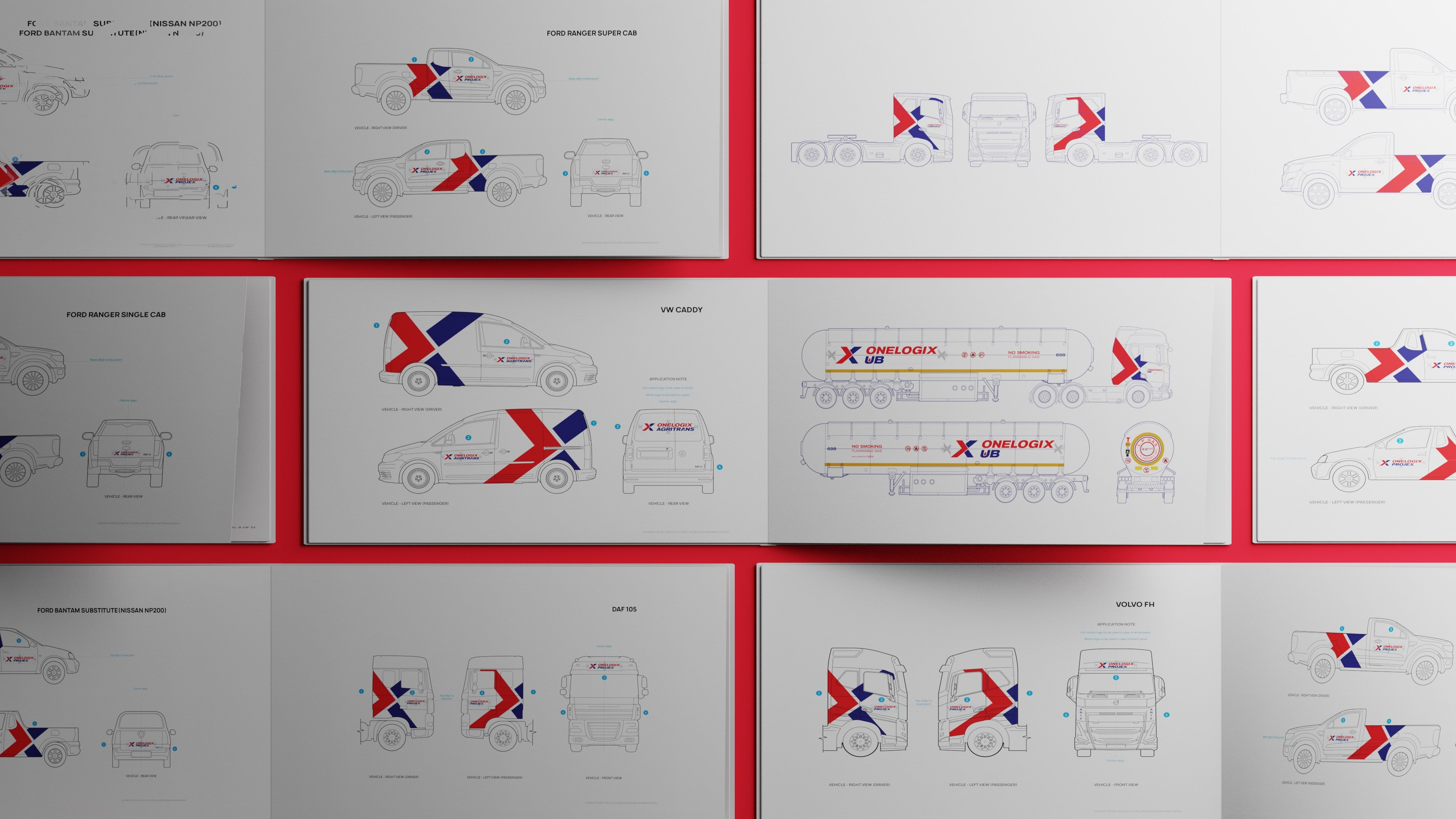 Vehicle Branding client Onelogix truck technical drawings-min