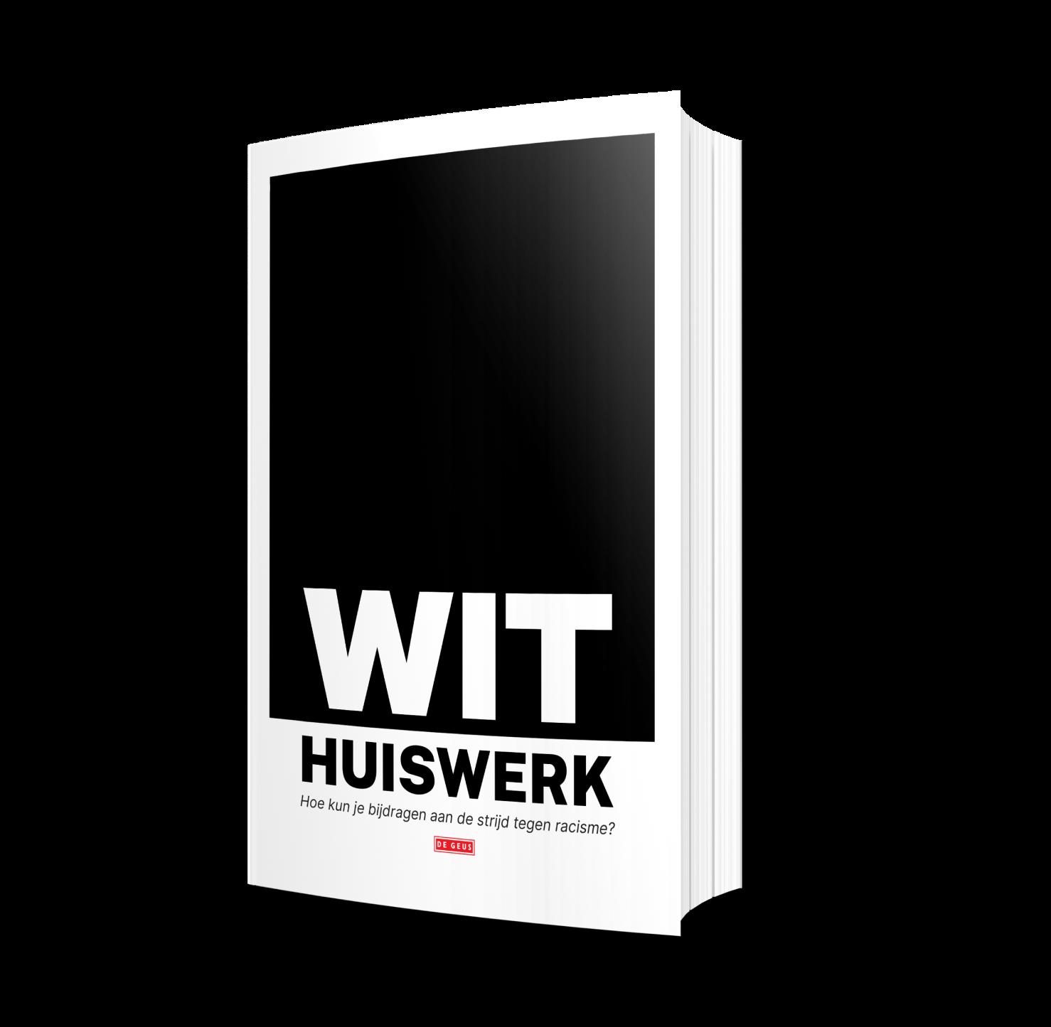 """Een boek met de tekst """"wit huiswerk"""" erop"""