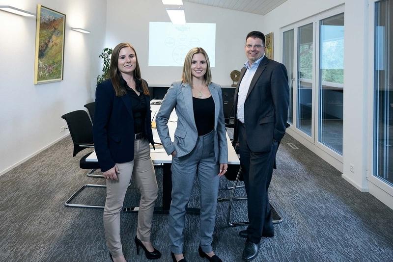 Andrea Hauenstein, Nathalie Hauenstein, Daniel Eschmann, Geschäftsführung Hauenstein Gruppe
